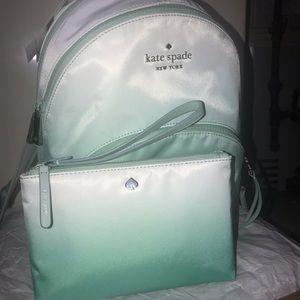 Kate spade book bag with matching wristlet